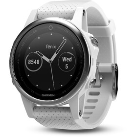 Garmin fenix 5S With white wristband silver